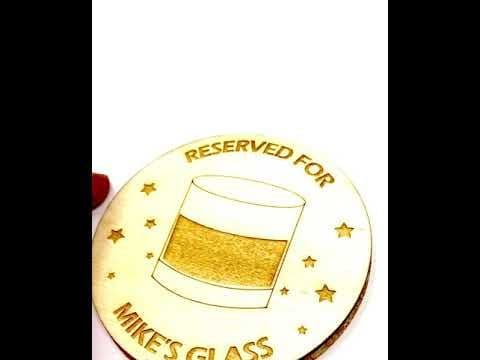 Reserved For Personalised Whiskey Coaster